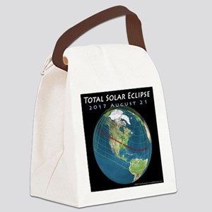 2017 Total Solar Eclipse Canvas Lunch Bag