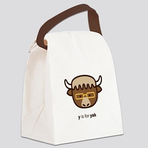 """Y is for Yak (Glasses)"" Canvas Lunch Bag"