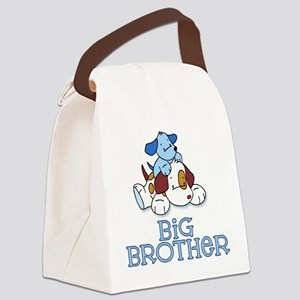 Cute Puppys Big Brother Canvas Lunch Bag