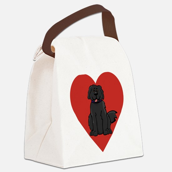 Love Newfie Canvas Lunch Bag