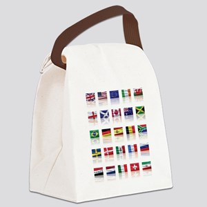 Reflecting on the Flags of th Canvas Lunch Bag