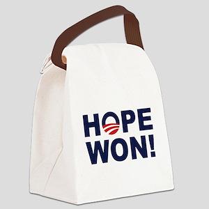 Hope Won! (Obama Symbol) Canvas Lunch Bag
