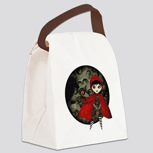 Little Red Capuccine Canvas Lunch Bag