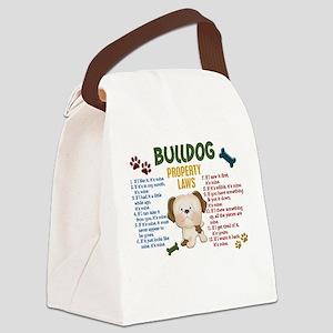 Bulldog Property Laws 4 Canvas Lunch Bag