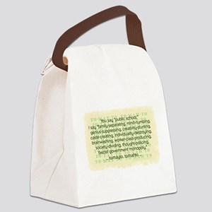 Tomayto Tomahto Canvas Lunch Bag