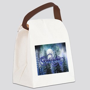 Moonlight Twilight Forest Canvas Lunch Bag