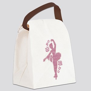 Ballet Dancer With Flowers Canvas Lunch Bag