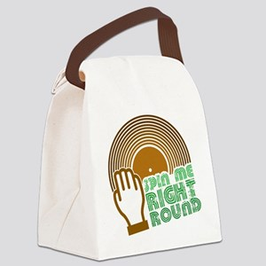Spin Me Right Round Canvas Lunch Bag