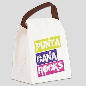Punta Cana Rocks! in blocks Canvas Lunch Bag
