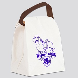 Weiner Rides 25 cents Canvas Lunch Bag
