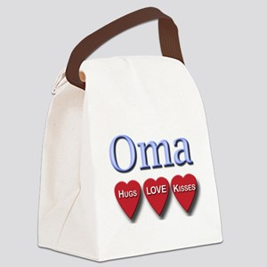OMA hugs and kisses Canvas Lunch Bag