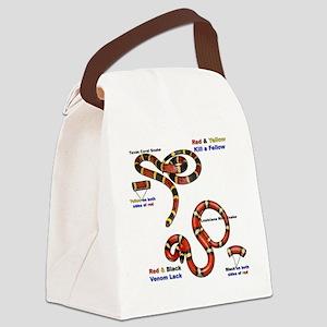 Coral Snake/Milk Snake Canvas Lunch Bag