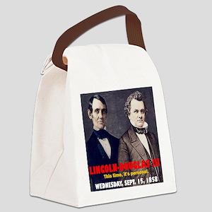 Lincoln-Douglas Debate Canvas Lunch Bag