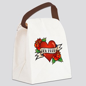 Tattoo New Moon Canvas Lunch Bag