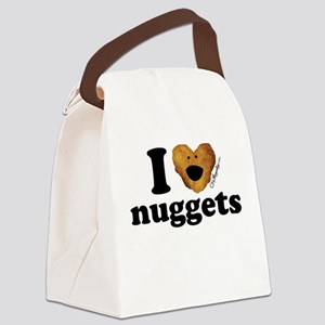 I Love Nuggets Canvas Lunch Bag