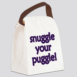 Snuggle Your Puggle Canvas Lunch Bag