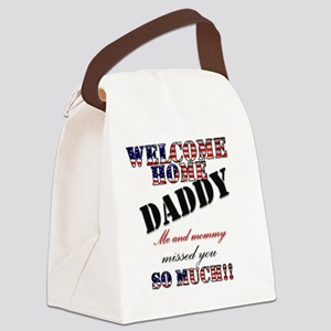 Welcome/daddy Canvas Lunch Bag
