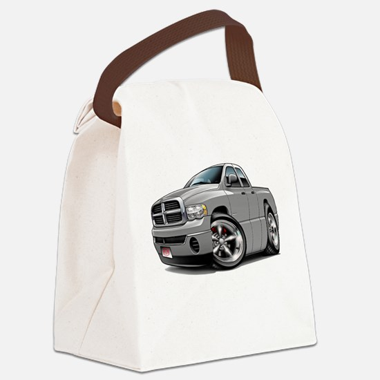 Dodge Ram Silver Dual Cab Canvas Lunch Bag