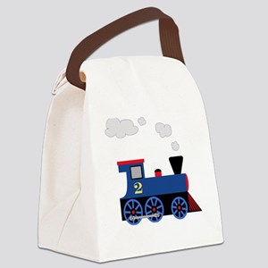 Blue train number 2 Canvas Lunch Bag
