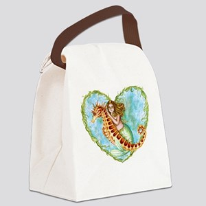 Mermaid and Seahorse Canvas Lunch Bag