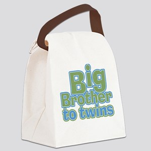 Big Brother to Twins Canvas Lunch Bag