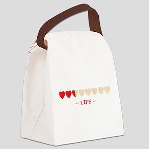 zelda hyrule life hearts Canvas Lunch Bag