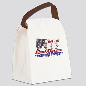 Because Of The Brave Canvas Lunch Bag