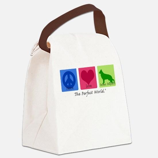 Peace Love German Shepherd Canvas Lunch Bag