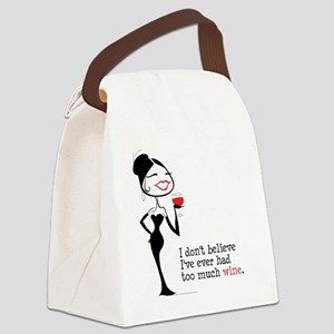 Too Much Wine (m) Canvas Lunch Bag