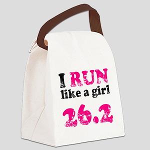 I Run Like a Girl 26.2 Canvas Lunch Bag