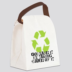 God Made It Canvas Lunch Bag