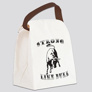 Strong Like Bull Canvas Lunch Bag