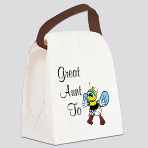 Great Aunt To Bee Canvas Lunch Bag