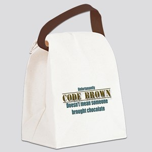 code brown doesn't mean Chocolate Canvas Lunch Bag