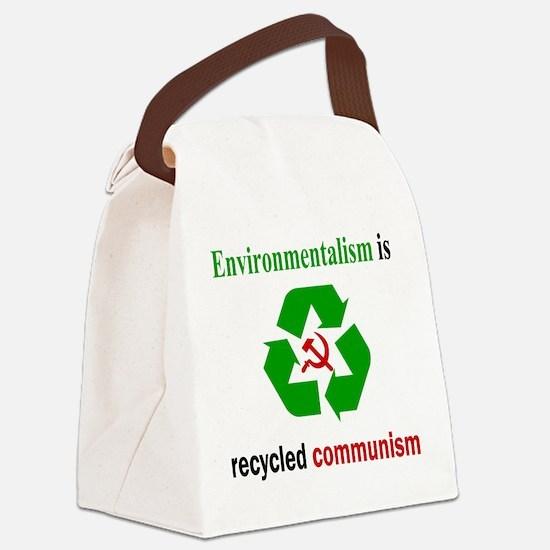 Anti Green Canvas Lunch Bag