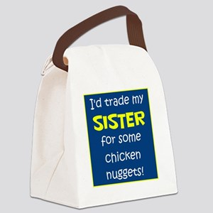 SISTER FOR NUGGETS Canvas Lunch Bag