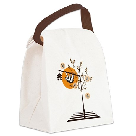 Hanging Around (Brown) Canvas Lunch Bag