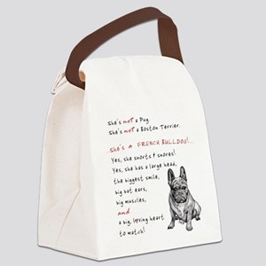 SHE'S not a Pug! (Serious) Canvas Lunch Bag