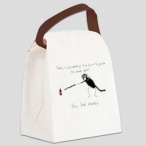 Sad Monkey Bomb Squad Canvas Lunch Bag
