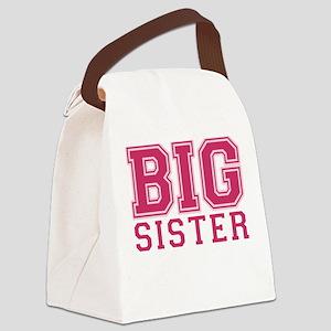 big sister varsity Canvas Lunch Bag