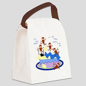 Five little Monkeys... Canvas Lunch Bag
