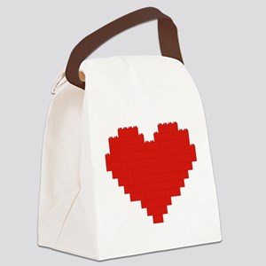 I heart building blocks Canvas Lunch Bag