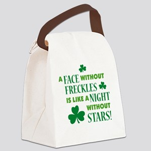 A face without freckles is li Canvas Lunch Bag