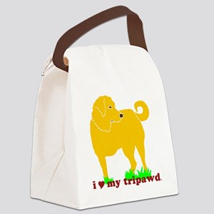 Golden Tripawd Love Canvas Lunch Bag
