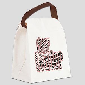 Zebra Cheerleader Canvas Lunch Bag