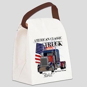 Classic Peterbilt Truck Canvas Lunch Bag