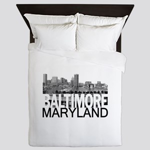 Baltimore Skyline Queen Duvet