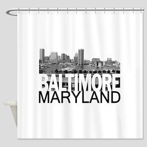 Baltimore Skyline Shower Curtain