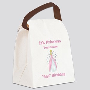 Princess Personalized Birthda Canvas Lunch Bag