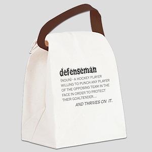 Defenseman Canvas Lunch Bag